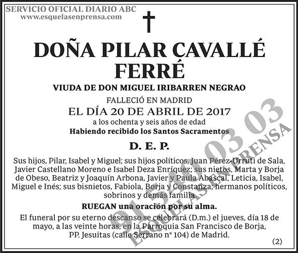 Pilar Cavallé Ferré